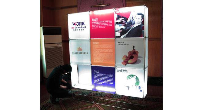 便携式展示柜展示架模块化搭建 临展特装 案例展示 无锡展厅设计 上海